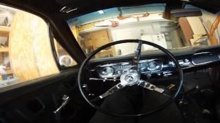 1965 Mustang 289 Open Headers Inside Car View