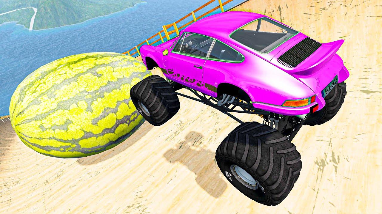Epic Death Falls Jump Crashes #54 BeamNG Drive Fun Madness   Random Cars Crashes Compilation