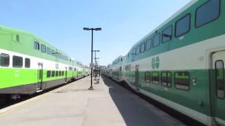 Go Transit & VIA Rail Trains in Oshawa Ontario (5/31/16)