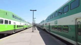 Go Transit & VIA Rail Trains in Oshawa Ontario (5/31/16)