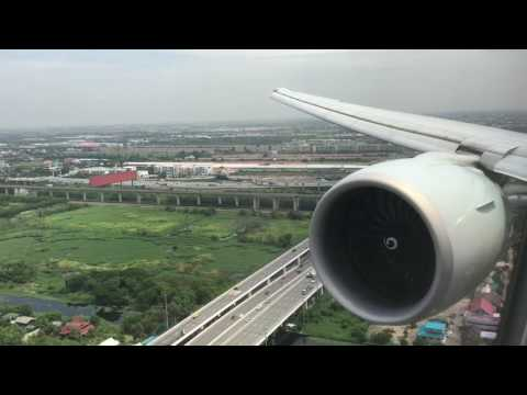 Cathay Pacific Airways | B777-300ER | landing at Bangkok Suvarnabhumi BKK HD