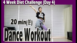 [4 Week Diet Challenge] Day 4 | 20 minute Dance Diet Workout | 20분 댄스다이어트 | 홈트| Sunny Funny Zumba