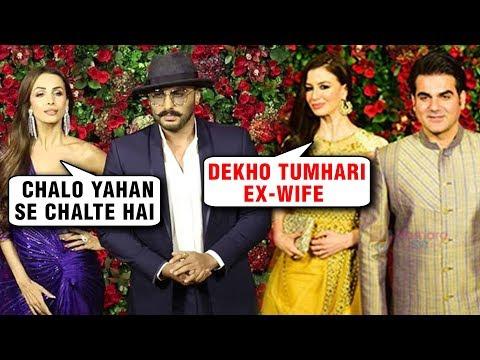 Malaika Arora Arjun Kapoor And Arbaaz Khan Georgia Andriani AWKWARD Moment At DeepVeer Reception