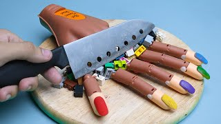 Full Stop Motion Cooking - Halloween Creepy primitive technology Lego in real life ASMR #12