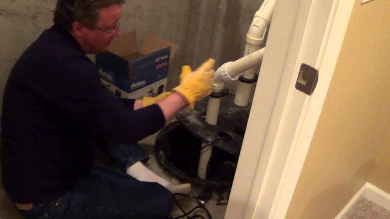 how to install a sump pump with radon mitigation system [ 1280 x 720 Pixel ]