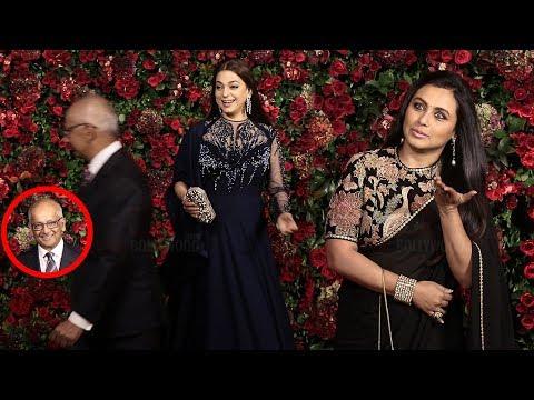 Juhi Chawla with Husband Jay Mehta arrives at Ranveer-Deepika's Wedding Reception Party