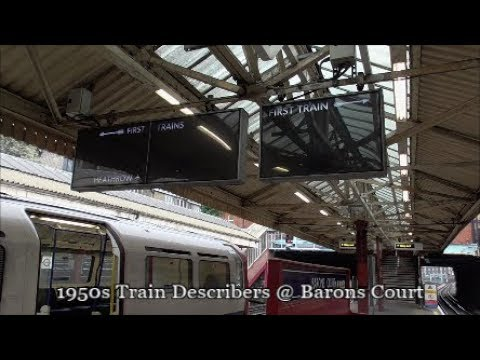 1950s Train Describers at Barons Court