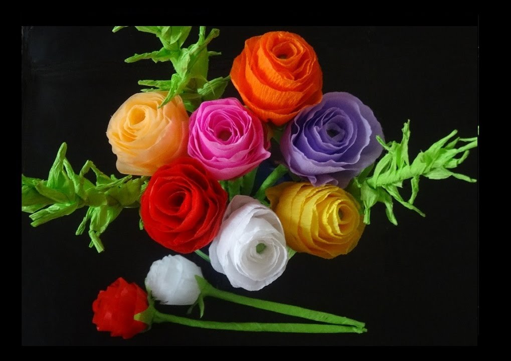 How To Make Paper Flowers- Rose Bouquet For Valentine's