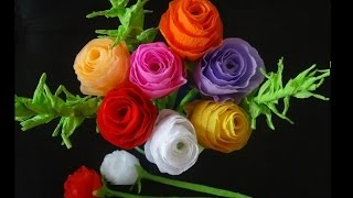 How to make paper flowers- Rose bouquet for Valentine's day