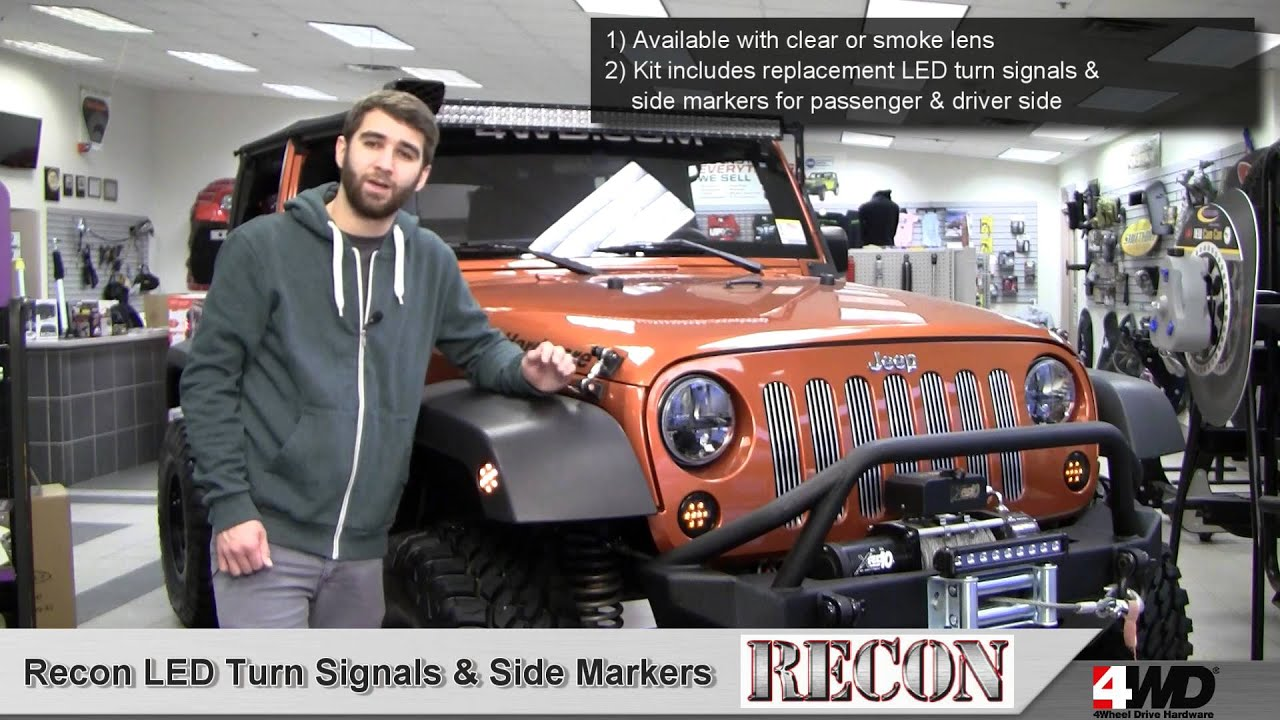 Recon LED Front Turn Signals and Fender Flare Side Marker Lights – Jeep Jk Parking Light Wiring
