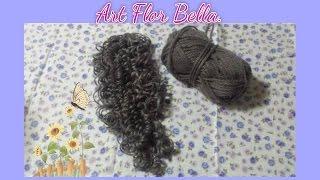 Como fazer cabelo de boneca de lã cacheado