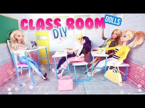 DIY Barbie Comment faire une salle de classe de poupées l How to make dolls class room