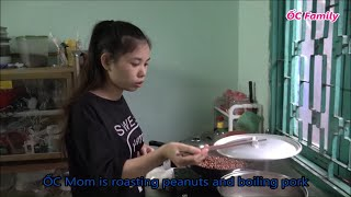 Beautiful Mom Cooking Spring Rolls And Eating With Her Cute Baby   ỐC Family