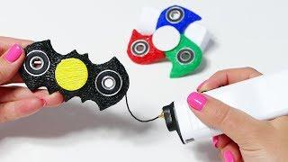 как сделать  Спиннер 3D ручккой, 3D PEN DIY, Мячик из лизуна, Конкурс на рисунок!