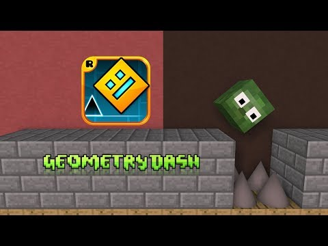 Monster School : Geometry Dash - Minecraft Animation