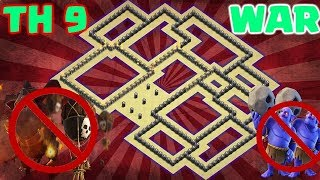 THE BEST TH9 BASE EVER    TOWN HALL 9 WAR BASE 2018    ANTI ALL TROOP    CLASH OF CLANS 2018