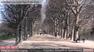 Paris, France - Video tour of a furnished apartment on Rue des Fossés Saint-Marcel