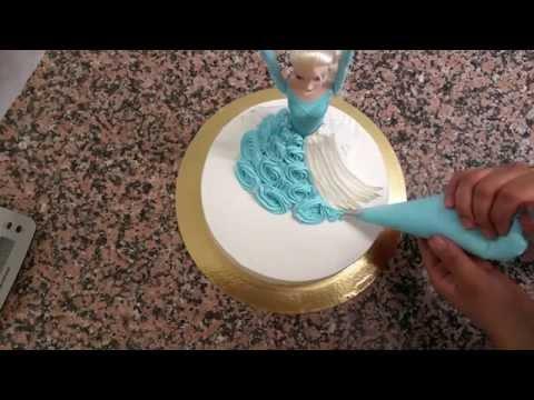 Reine Des Neiges Gateau- Karlar Kraliçesi Bebekli Pastası Yapılışı[HD]