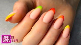 Разноцветный френч 😍 Яркий, летний маникюр 😍 Ирина Брилёва
