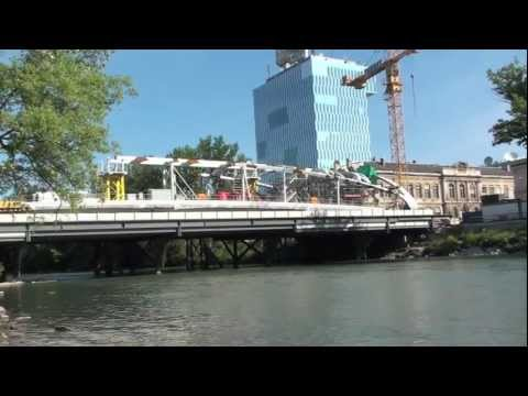 Pont Hans Wilsdorf - Fabrication et Montage par Zwahlen & Mayr (2010 - 2011)