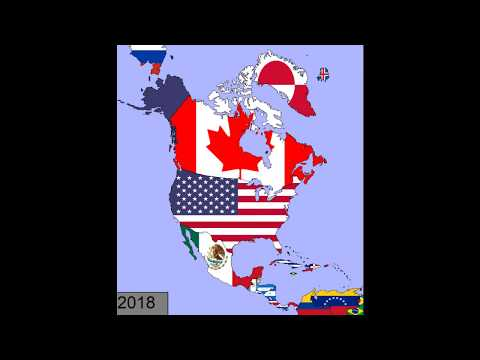 North America: Timeline of National Flags: 1600 - 2018