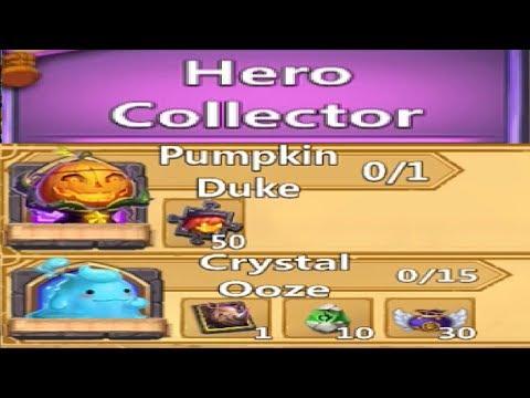 NEW Hero Collector Crystal OOZE Pumpkin Duke Scraps F2P Friendly Castle Clash