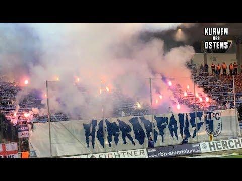FSV Zwickau 3:1 1. FC Magdeburg 15.09.2017 | Choreos, Pyro & Support