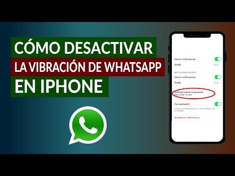 Cómo Quitar o Desactivar la Vibración en WhatsApp iPhone - Fácil y Rápido
