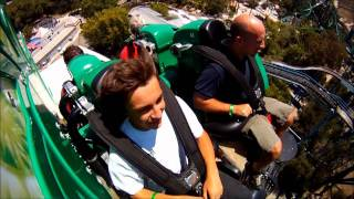 Green Lantern First Flight Six Flags Magic Mountain On Ride POV