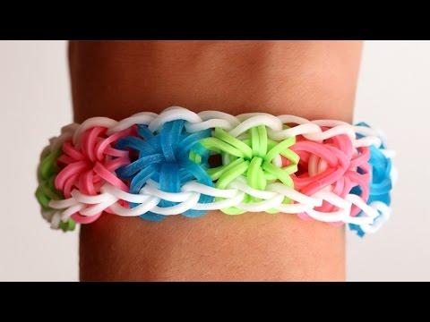 Prosty instruktaż jak zrobić bransoletkę Starburst z gumek Rainbow Loom
