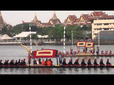 The Royal Barge Procession: Thailand 2012 full dress rehearsal (Full Length)