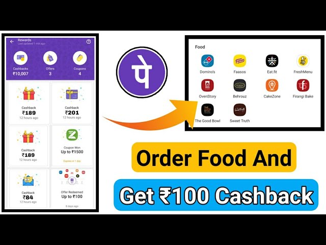 Order Food Using PhonePe App & Get ₹100 Cashback For All Users || PhonePe Cashback Proof Added😍