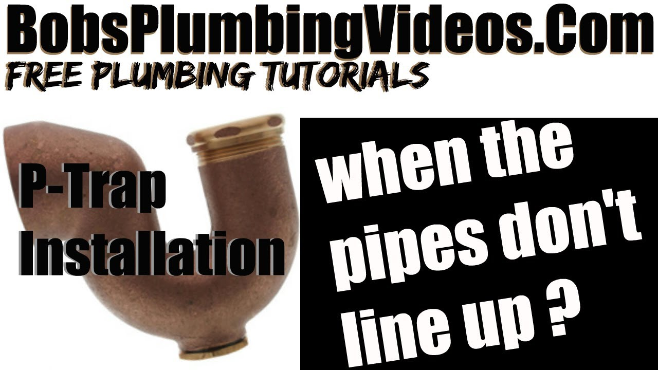 Kitchen Sink Drain Pipe Free Standing Shelves How To A - Youtube
