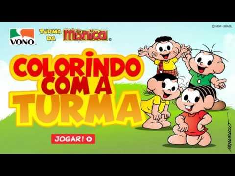 JOGOS TURMA DA MONICA - JOGOS ONLINE - COLORINDO, CORRENDO, COLHENDO