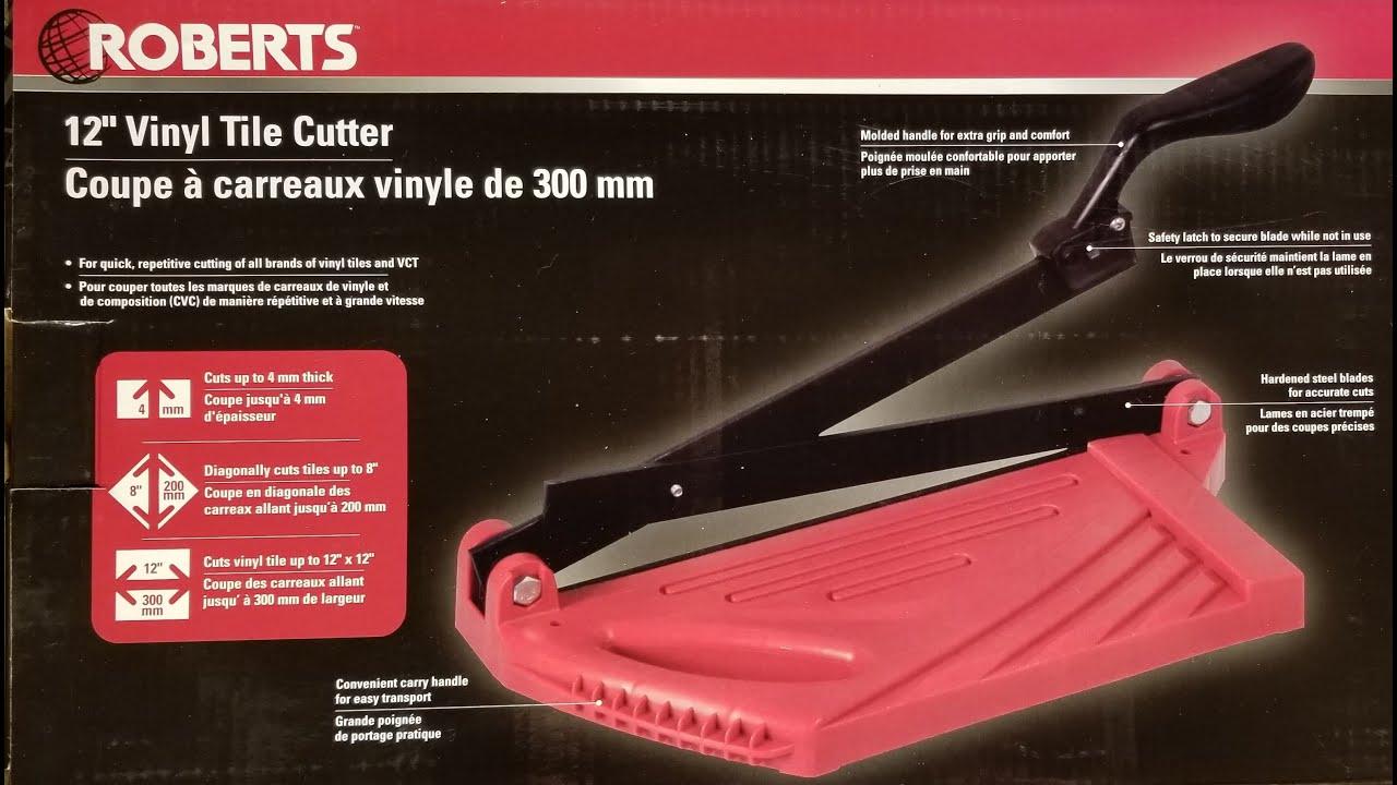 roberts 12 vinyl tile cutter