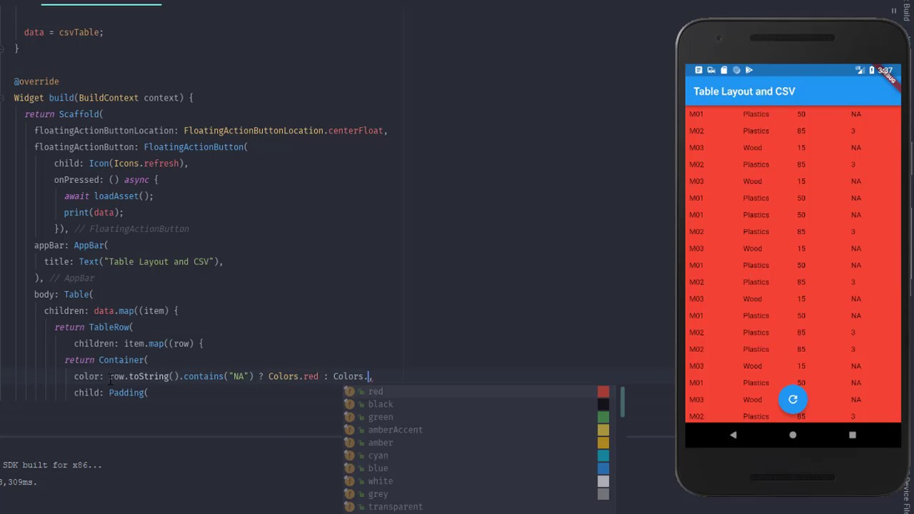 Flutter #36 : Table Layout and load CSV file
