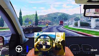 GTA V Steering Wheel & Manual Transmission Mod Test | Logitech G27