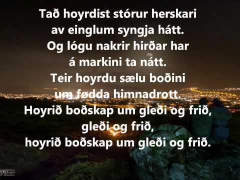 "Gud signi tykkum Harrans fólk - føroysk umseting av jólasálminum ""God rest ye merry gentlemen"""