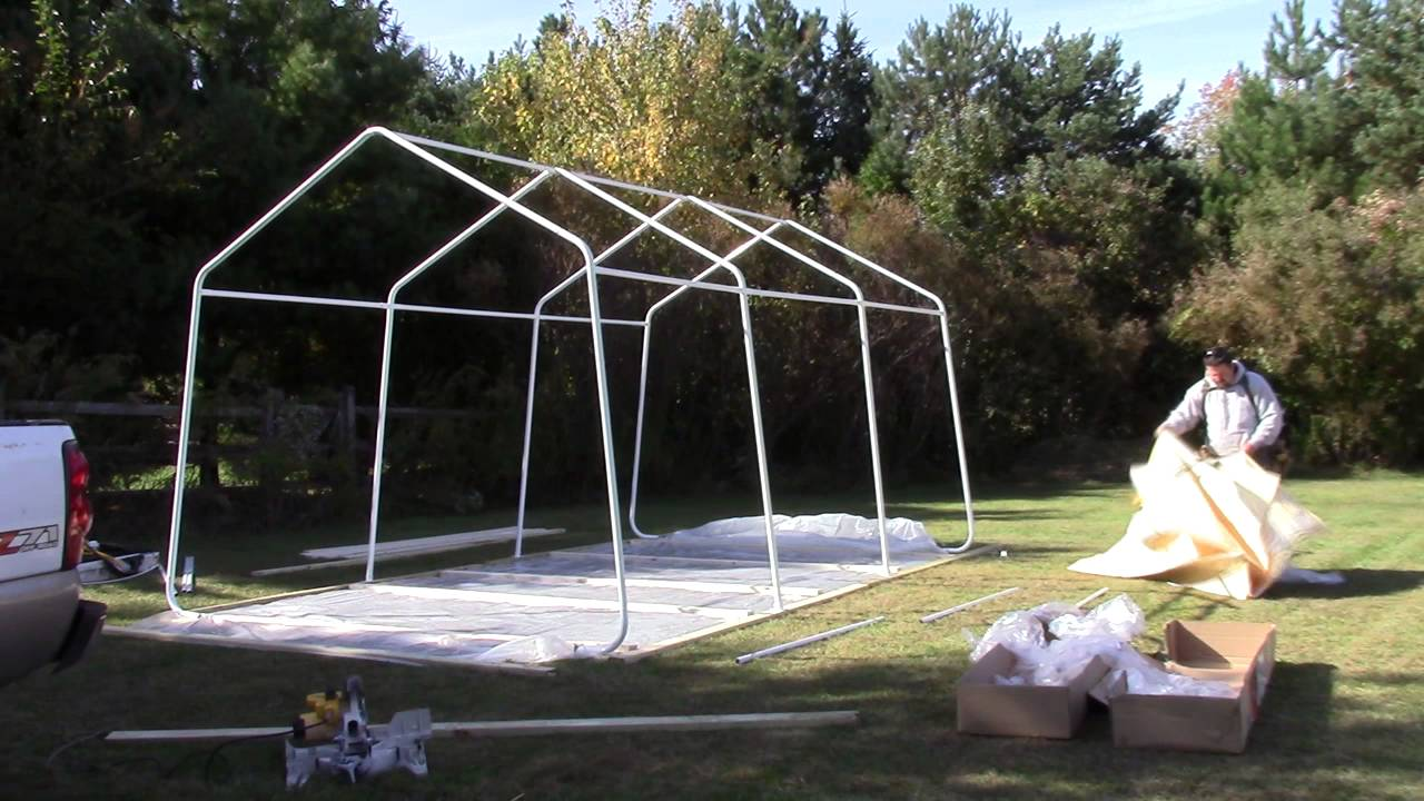 to details wide tarp sheds instant equipment garage product portable storage