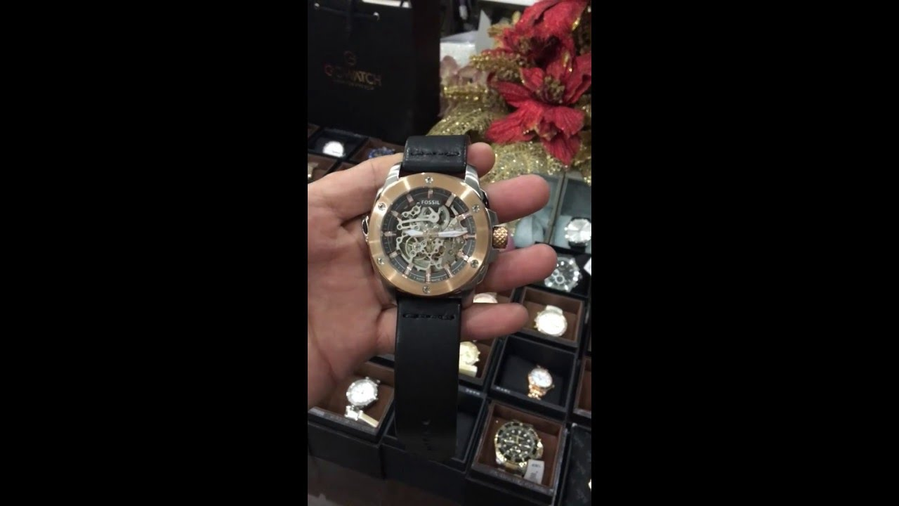 Fossil Modern Machine Automatic Leather Watch Me3082 By Gowatch Vn Me3138 Grant Sport Skeleton Dial Black