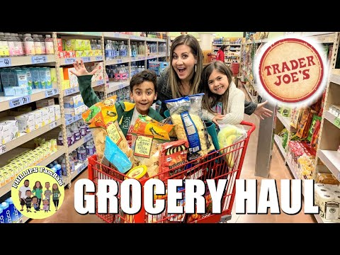 MASSIVE TRADER JOE'S GROCERY HAUL | TRADER JOE'S FOOD TASTE TEST | PHILLIPS FamBam Grocery Hauls