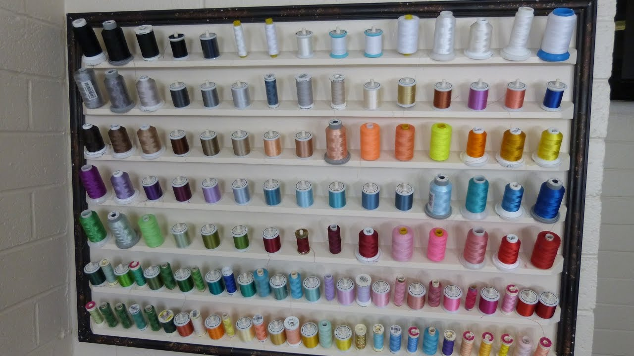 DIY Embroidery Thread Holder - Sewing Room Organization