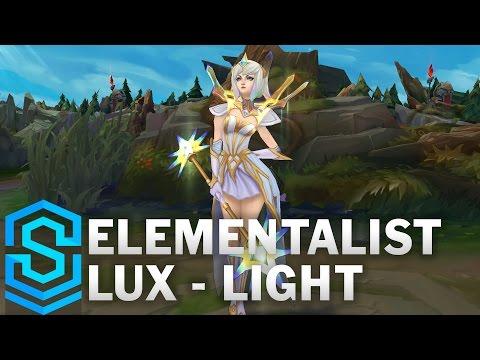 Elementalist Lux (Light Form) Skin Spotlight - League of Legends