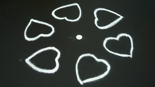 Easy Rangoli with 5X3 Dots | Kolam Designs | Easy & Simple Rangoli | Muggulu Designs | Kolam