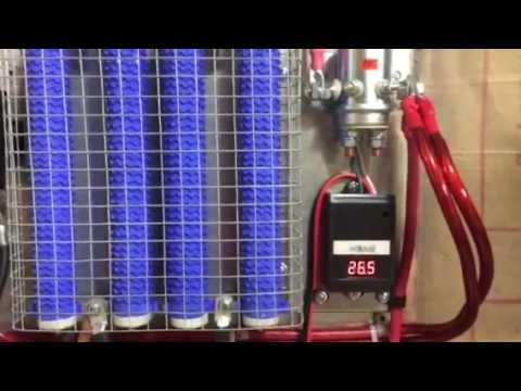 Wind turbine output and load-bank operations