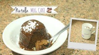 Postre sin Horno de Nutella en 1 minuto  (Nutella Mug Cake)