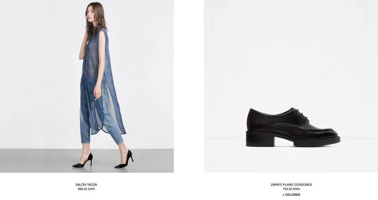 Catálogo Zapatos Zara Mujer México 2015