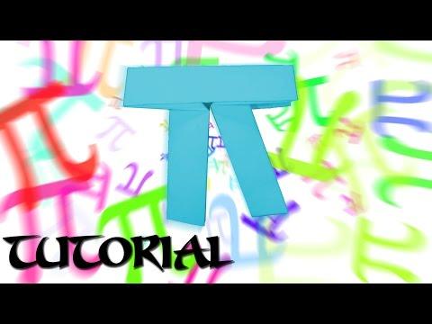 Origami Pi Symbol Tutorial