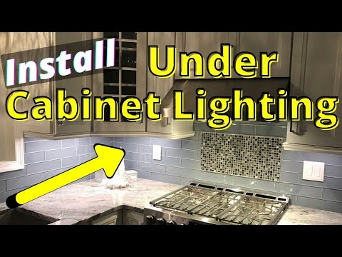 hqdefault - How to organize the kitchen under cabinet lighting.