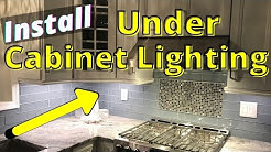 How to Install Cabinet Lighting - Under Cabinet